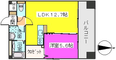 MM-5 / 1105号室間取り