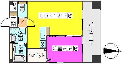 MM-5 / 1305号室間取り