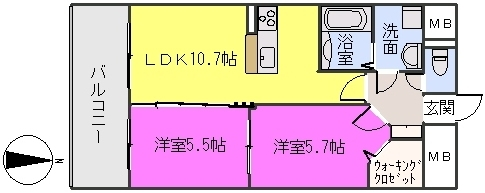 MM-5 / 1402号室間取り