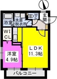 コモド姪浜 / 201号室間取り