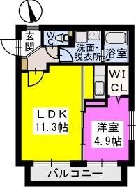 コモド姪浜 / 202号室間取り
