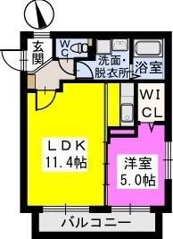 コモド姪浜 / 302号室間取り
