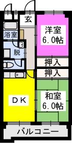 エルハイム室見Ⅰ / 201号室間取り