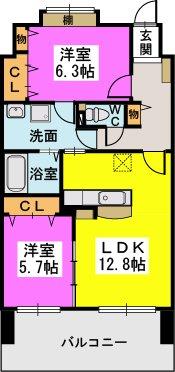 プロスペレー駅南 / 1006号室間取り