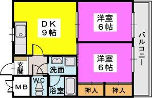 姪浜駅南ビル / 402号室間取り