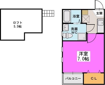 ヴィテス姪浜 / 201号室間取り