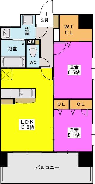 MM-6 / 1203号室間取り