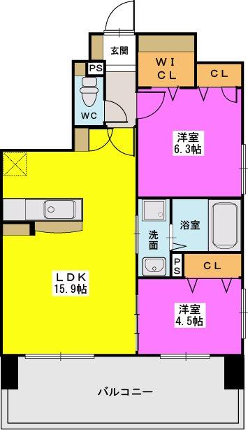 MM-6 / 1502号室間取り