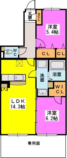 仮)プレアev有田7丁目 / 102号室間取り