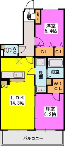 シヅティア / 302号室間取り