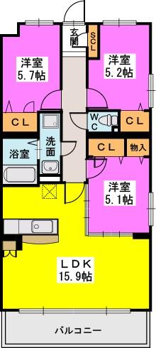 シヅティア / 401号室間取り