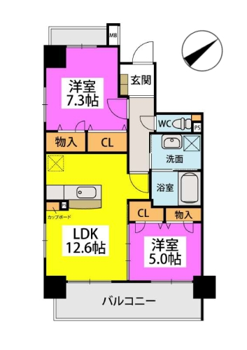 Kobiraki bldg. / 501号室間取り