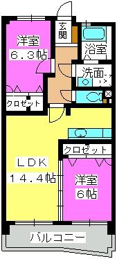 シュペリュールⅡ / 502号室間取り