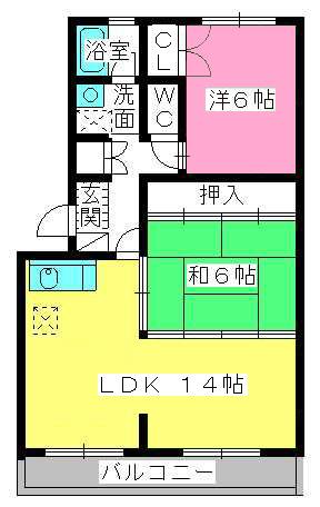 レジデンス宮原 / 203号室間取り