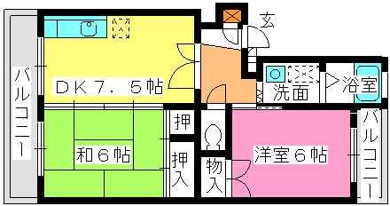 寺内ビル / 102号室間取り