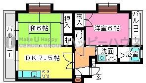 寺内ビル / 301号室間取り