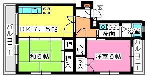 寺内ビル / 305号室間取り