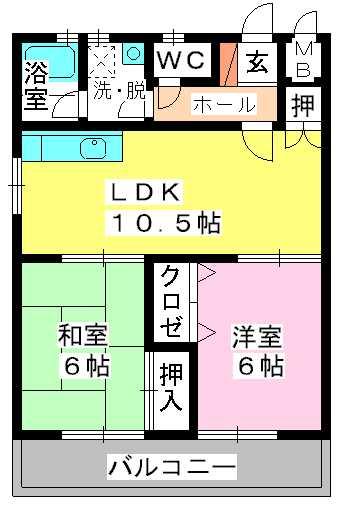 恵コーポ / 302号室間取り