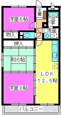 エクセレント中嶋 / 203号室間取り