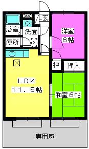 メロディハイツ山田 / 103号室間取り