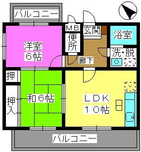 サンシャトーレ日永田 / 103号室間取り