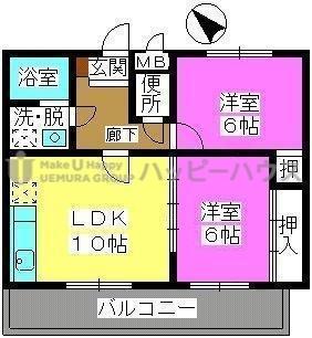 サンシャトーレ日永田 / 201号室間取り