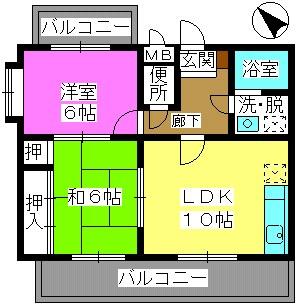 サンシャトーレ日永田 / 203号室間取り