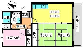 高義ビルⅡ / 203号室間取り
