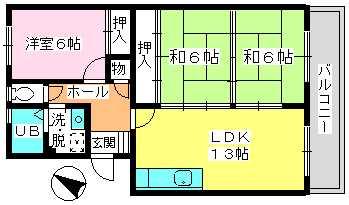 高義ビルⅡ / 305号室間取り