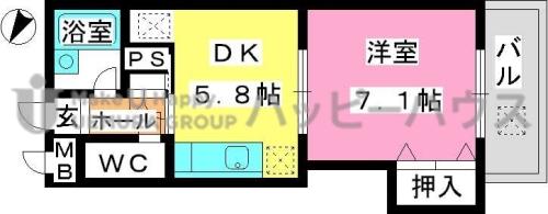 ジュネス東大利 / 305号室間取り