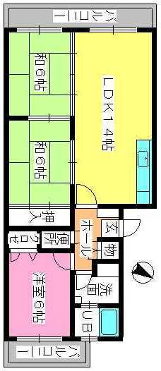 セピアコート'93 / 203号室間取り