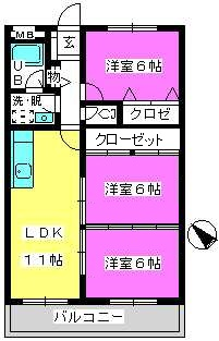 Cityハイツ山田 / 202号室間取り