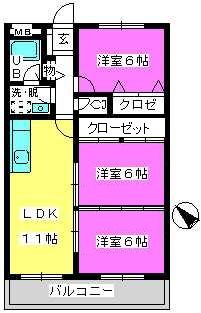 Cityハイツ山田 / 302号室間取り