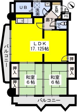 第一高田ビル / 302号室間取り
