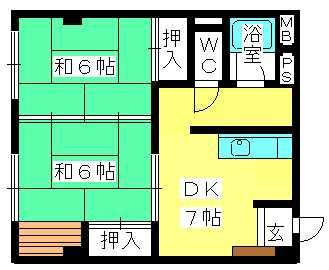 丸高ビル / 203号室間取り