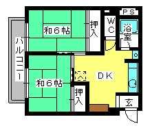 丸高ビル / 301号室間取り