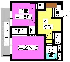 丸高ビル / 302号室間取り
