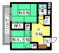 丸高ビル / 303号室間取り