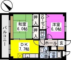 レスピーザⅡ / 208号室間取り