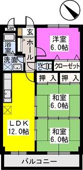 レスピーザⅡ / 302号室間取り