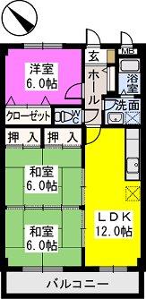 レスピーザⅡ / 403号室間取り