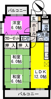 レスピーザⅡ / 406号室間取り