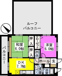 レスピーザⅡ / 407号室間取り