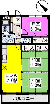 レスピーザⅡ / 605号室間取り