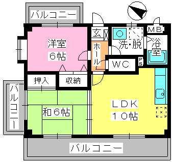 コスモス'95 / 402号室間取り