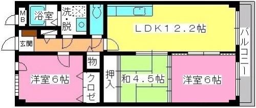グレースマンション大野城 / 603号室間取り