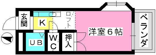 ベルハイツ / 201号室間取り