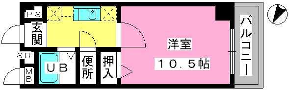 アネモス春日原 / 202号室間取り