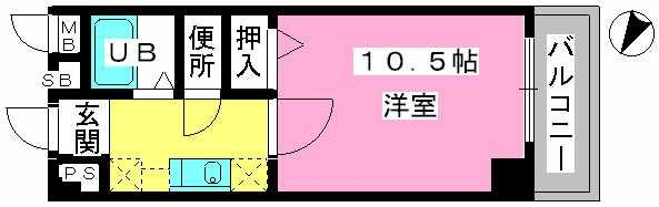 アネモス春日原 / 203号室間取り