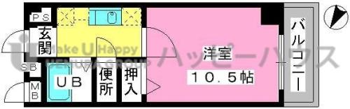 アネモス春日原 / 302号室間取り